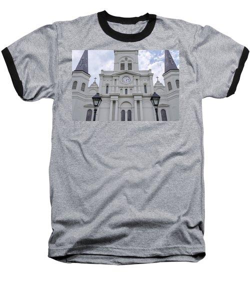 St. Louis Cathedral Close-up Baseball T-Shirt