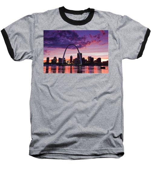 St Louis Sunset Baseball T-Shirt by Garry McMichael
