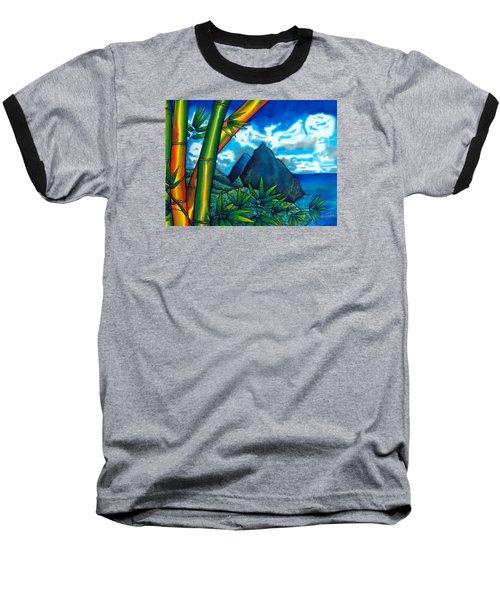 St. Lucia Pitons Baseball T-Shirt