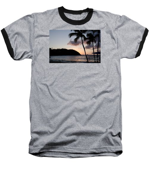 St. Lucian Sunset Baseball T-Shirt