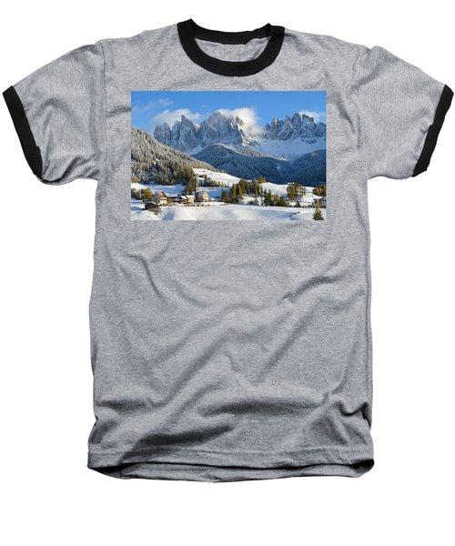 St. Magdalena Village In The Snow In Winter Baseball T-Shirt