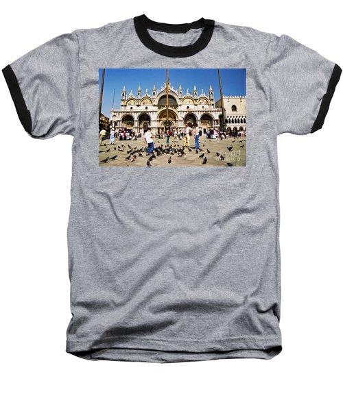 Baseball T-Shirt featuring the photograph St. Mark's Basilica  by Allen Beatty