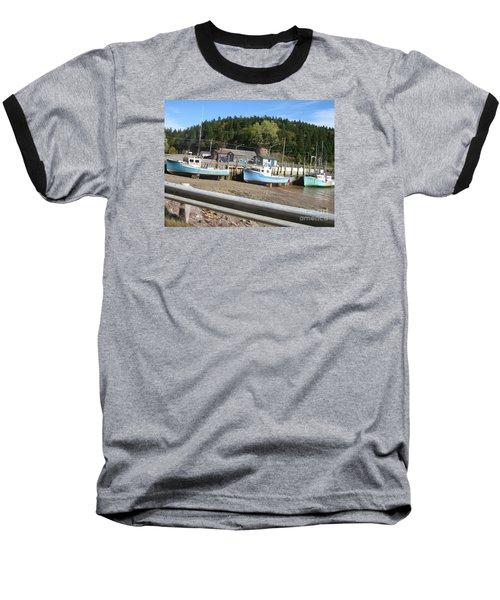 St-martin's Fishing Fleet Baseball T-Shirt by Francine Heykoop