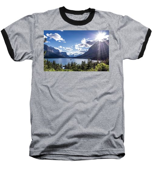 St. Mary Lake Baseball T-Shirt by Aaron Aldrich