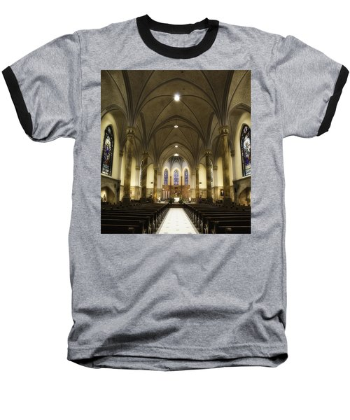 Baseball T-Shirt featuring the photograph St Mary's Catholic Church by Lynn Geoffroy