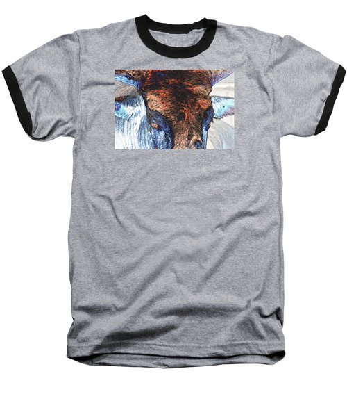 St Paul Rodeo Bull 25407 Neon Baseball T-Shirt by Jerry Sodorff