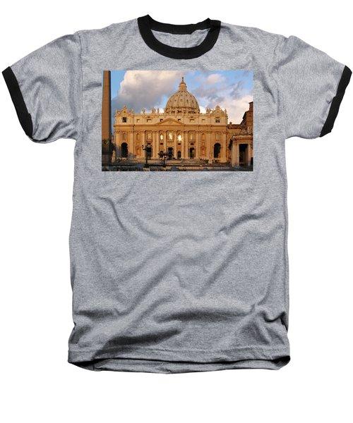 St. Peters Basilica Baseball T-Shirt