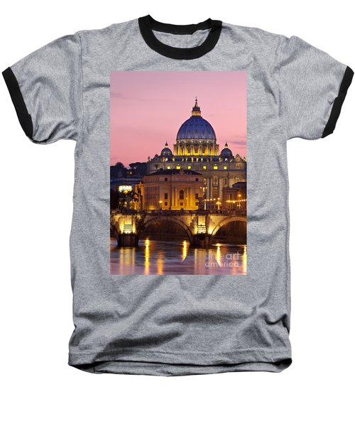 St Peters Basilica Baseball T-Shirt