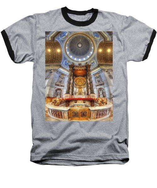St Peter's Basilica Baseball T-Shirt