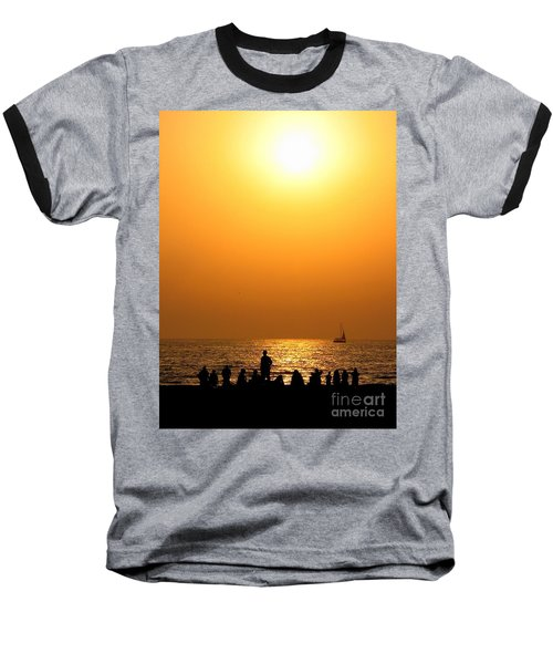 Baseball T-Shirt featuring the photograph St. Petersburg Sunset by Peggy Hughes