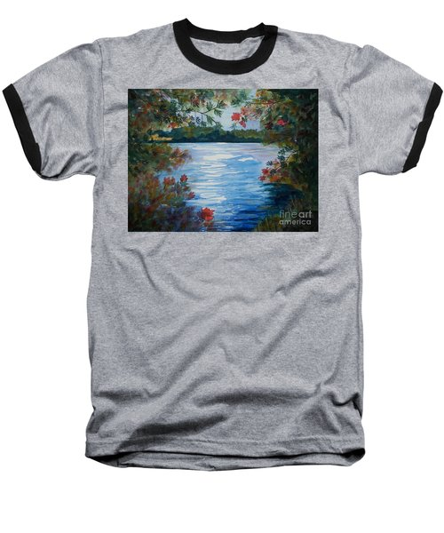 St. Regis Lake Baseball T-Shirt by Ellen Levinson