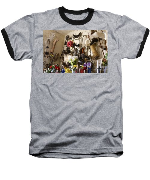 Baseball T-Shirt featuring the photograph New Orleans St Roch Cemetery by Luana K Perez