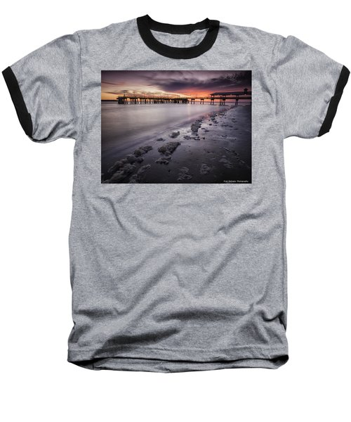 St. Simons Pier At Sunset Baseball T-Shirt