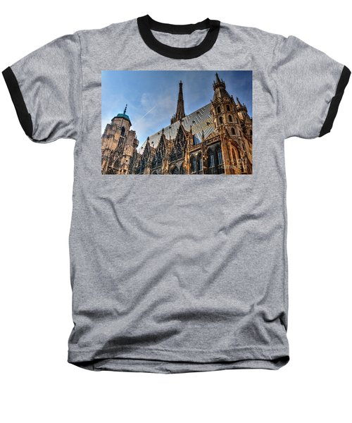 Baseball T-Shirt featuring the photograph St. Stephen's Cathedral by Joe  Ng