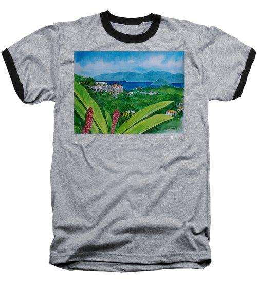 St. Thomas Virgin Islands Baseball T-Shirt by Frank Hunter