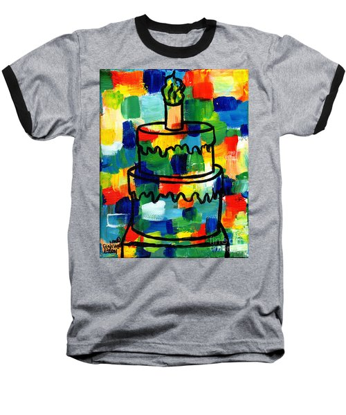 Stl250 Birthday Cake Abstract Baseball T-Shirt