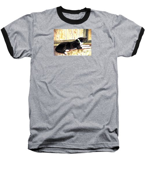 Baseball T-Shirt featuring the painting Stable Duty by Angela Davies