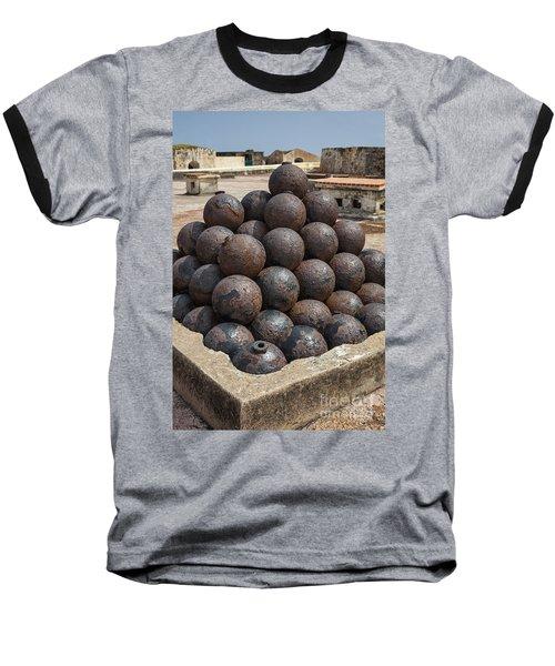 Stack Of Cannon Balls At Castillo San Felipe Del Morro Baseball T-Shirt