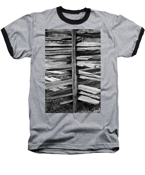 Baseball T-Shirt featuring the photograph Stacked Fence by Lynn Palmer