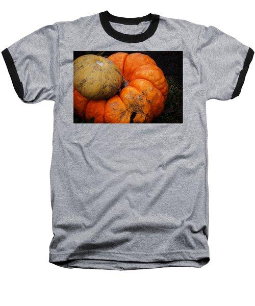 Stacked Pumpkins Baseball T-Shirt