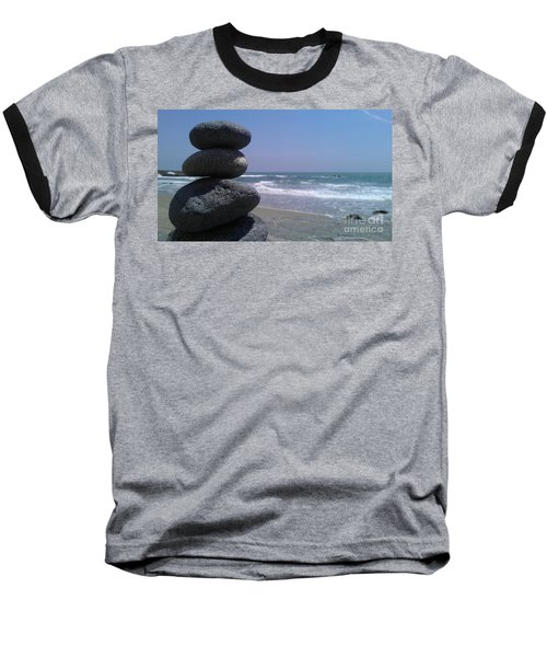 Stacked Rocks Baseball T-Shirt by Chris Tarpening