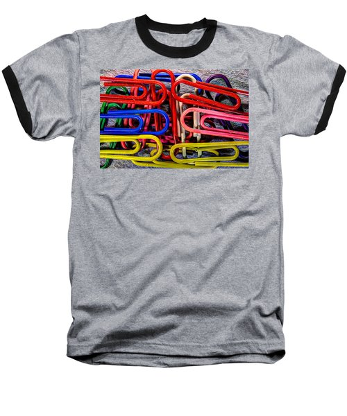 Stacks Of Clips Baseball T-Shirt by Richard J Cassato