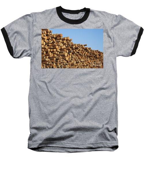 Stacks Of Logs Baseball T-Shirt