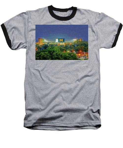 Stadium At Night Baseball T-Shirt