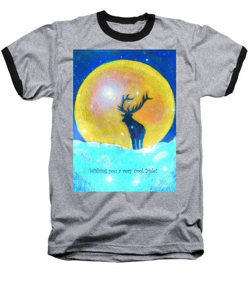 Stag Of Winter Baseball T-Shirt by Diana Haronis