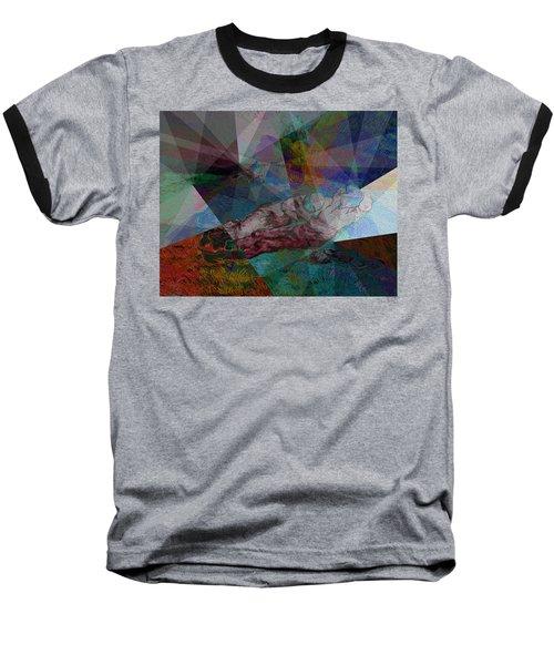 Stain Glass I Baseball T-Shirt by David Bridburg