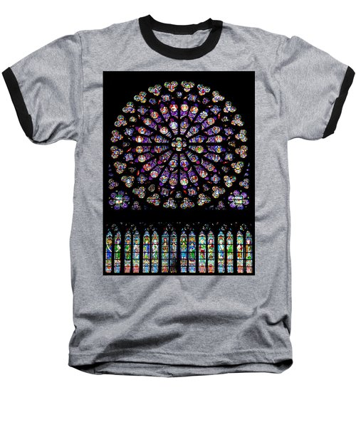 Stained Glass At Notre Dame Baseball T-Shirt