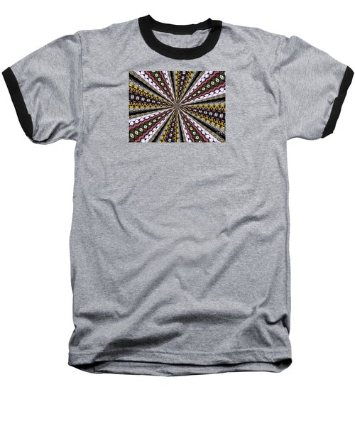 Baseball T-Shirt featuring the photograph Stained Glass Kaleidoscope 1 by Rose Santuci-Sofranko