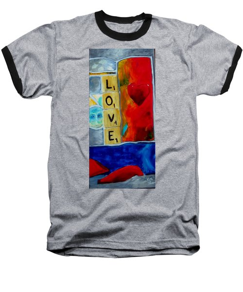 Stained Glass Love Baseball T-Shirt