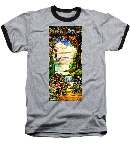 Baseball T-Shirt featuring the photograph Stained Glass No Border by Kristin Elmquist