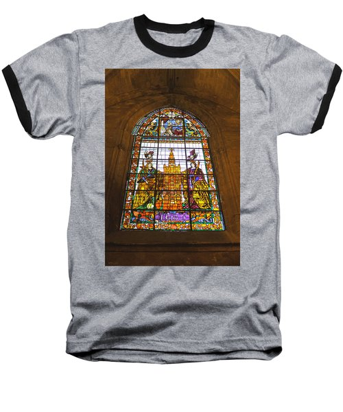 Stained Glass Window In Seville Cathedral Baseball T-Shirt