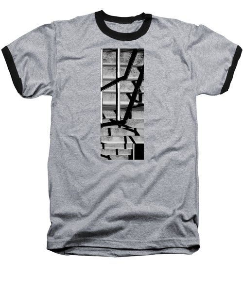 Stairs Baseball T-Shirt by Caitlyn  Grasso