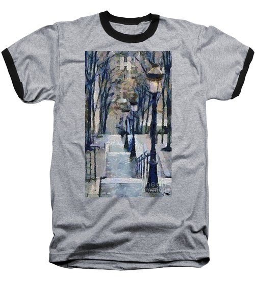 Stairs With Lamps Baseball T-Shirt