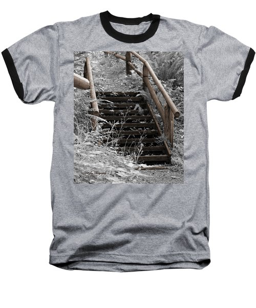 Baseball T-Shirt featuring the photograph Stairway Home by Jeanette C Landstrom