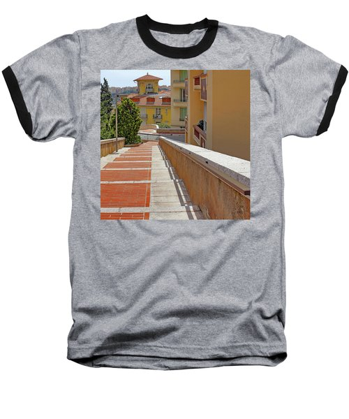 Stairway In Monaco French Riviera Baseball T-Shirt