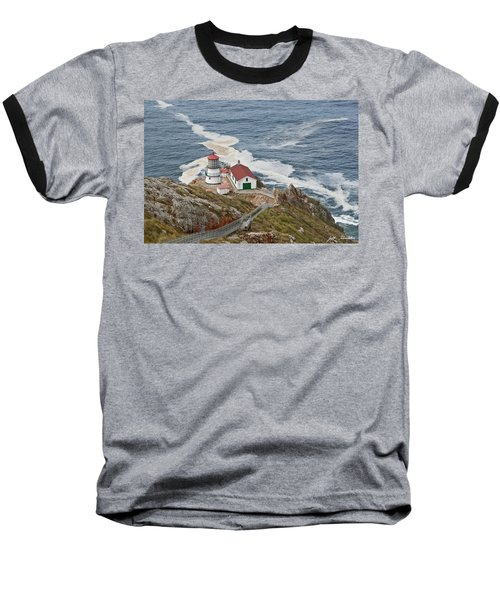 Baseball T-Shirt featuring the photograph Stairway Leading To Point Reyes Lighthouse by Jeff Goulden