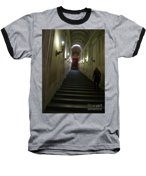 Baseball T-Shirt featuring the photograph Stairway  by Robin Maria Pedrero