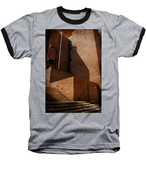 Stairway To Nowhere Baseball T-Shirt by Lois Bryan