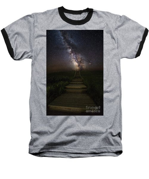 Stairway To The Galaxy Baseball T-Shirt