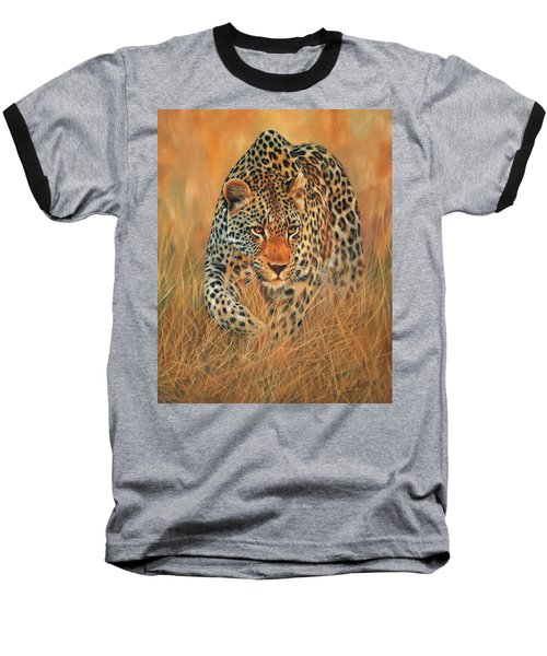 Stalking Leopard Baseball T-Shirt