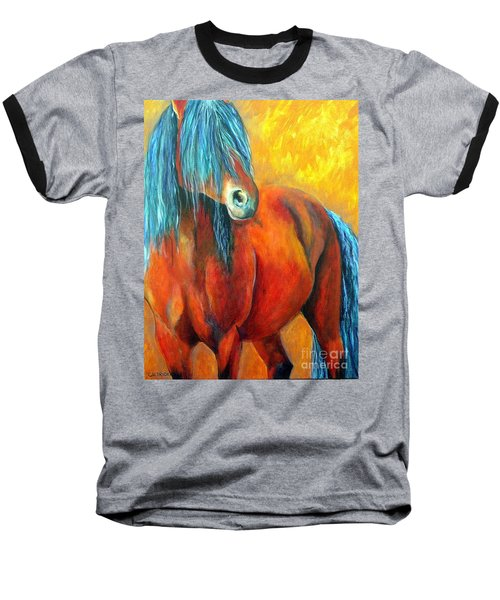 Stallions Concerto  Baseball T-Shirt by Alison Caltrider