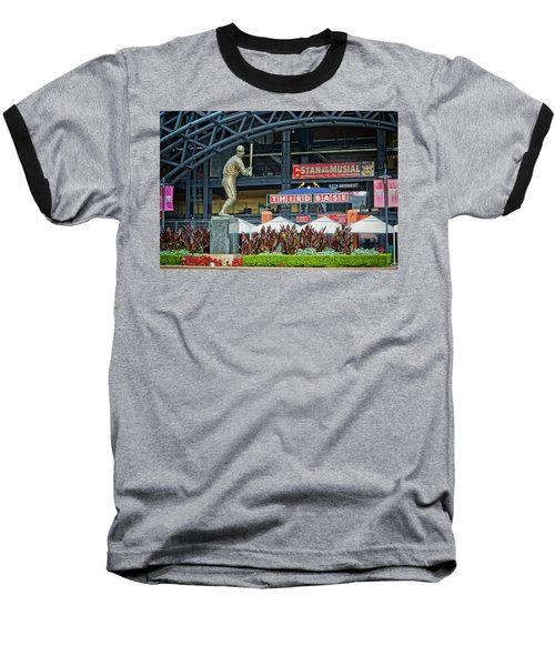 Stan Musial Statue At Busch Stadium St Louis Mo Baseball T-Shirt by Greg Kluempers