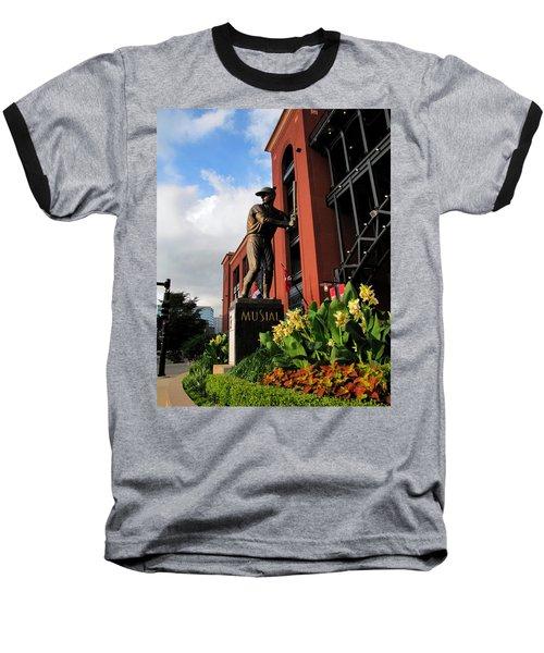 Stan Musial Statue Baseball T-Shirt