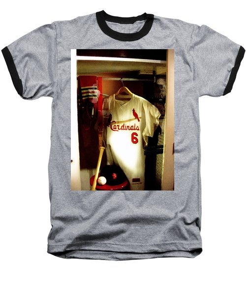 Baseball T-Shirt featuring the photograph Stan The Man's Locker Stan Musial by Iconic Images Art Gallery David Pucciarelli