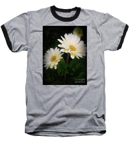 Stand By Me Gerber Daisy Baseball T-Shirt by Lingfai Leung
