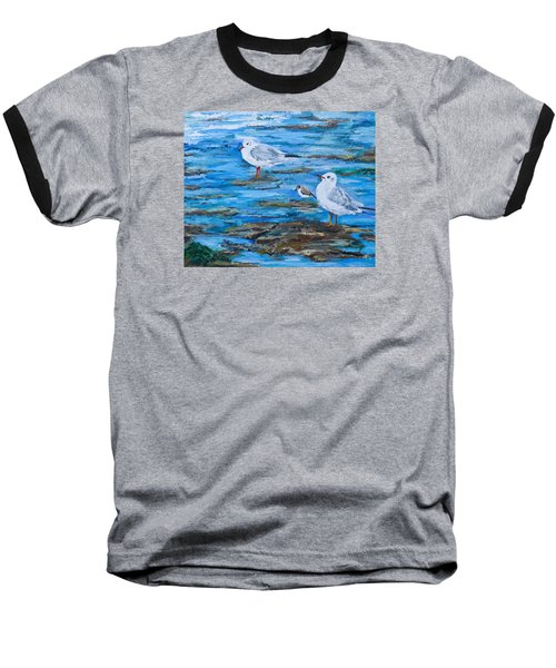 Sea Birds Wait Baseball T-Shirt